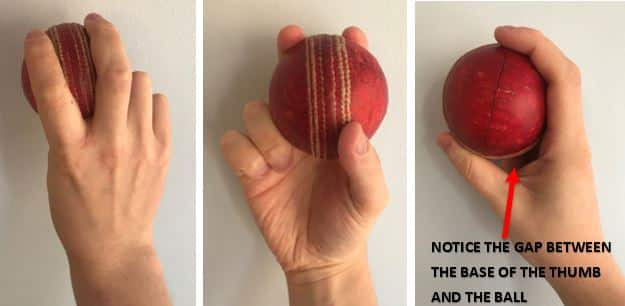 The Normal Fast Bowling Grip
