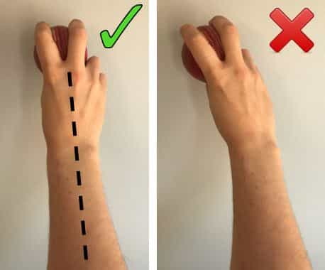 Good Wrist Position vs Bad Wrist Position