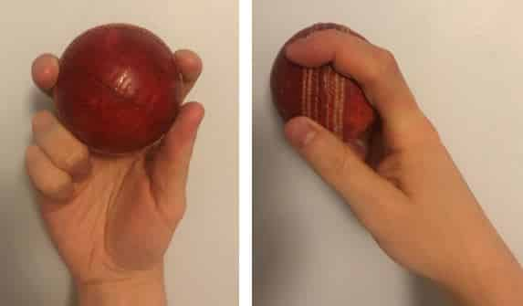 The grip required to bowl off spin