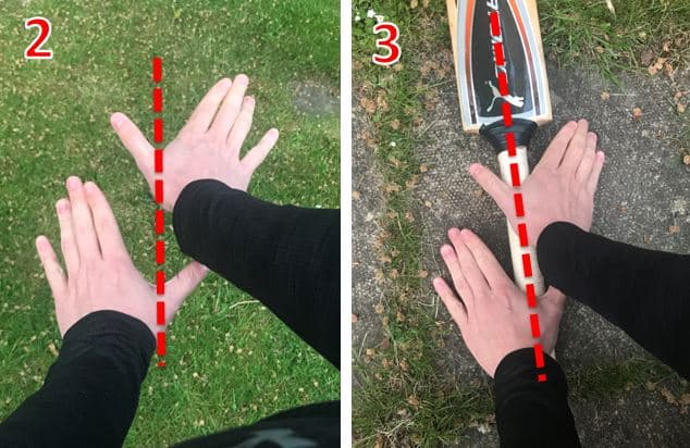 Photos showing how you should position your hands to use the V Grip