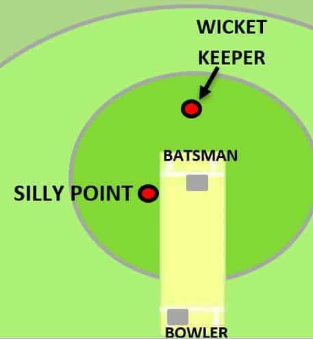 silly point fielding location