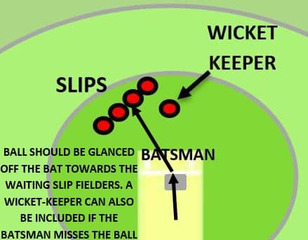 diagram showing the position of fielders during a close catching drill
