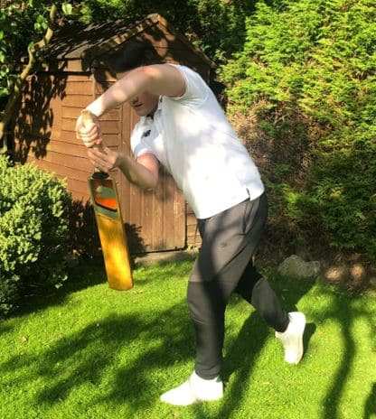 Photo showing how to play the on drive shot