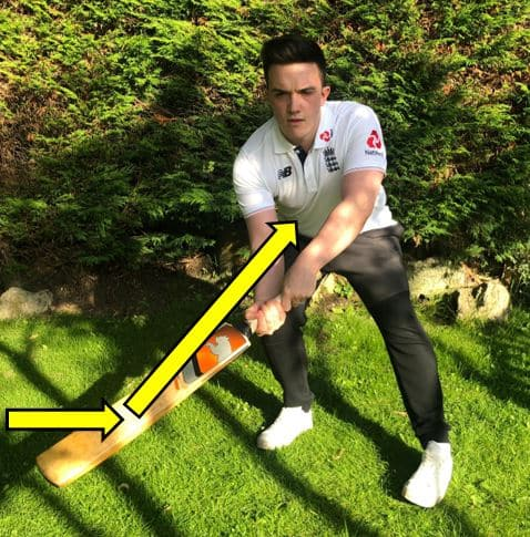 Photo Showing how to play the ramp shot