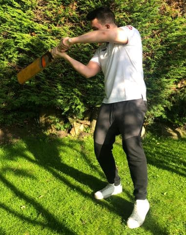 Photo showing how to play the square cut shot