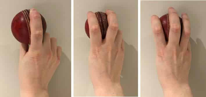 One finger, two finger, and three finger grips for the drill