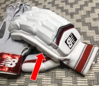 Photo Showing The Protective Side Bar On The TC860 Gloves