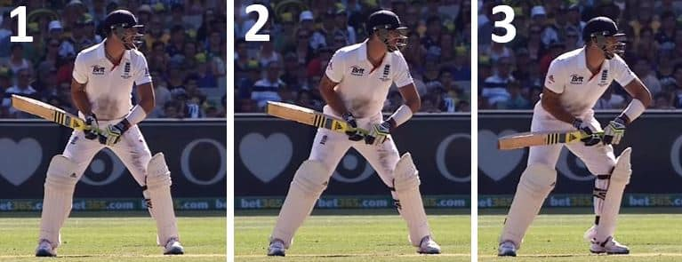 Kevin Pietersen Batting Stance & Trigger Move