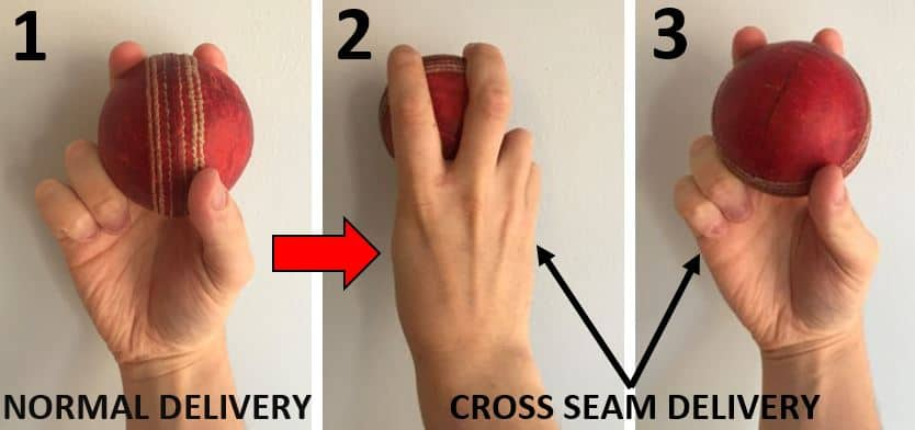 Difference Between The Conventional Fast Bowling Grip & The Cross Seam Grip