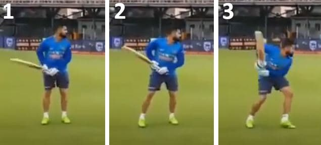 Virat Kohli's trigger movement from a side on angle