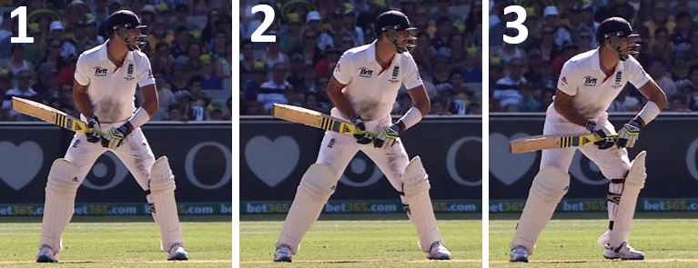 Kevin Pietersen's trigger move from side on angle