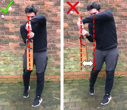 Photo showing how to avoid chasing the swinging ball