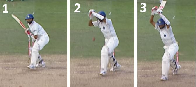 Rahul Dravid Leaving the ball