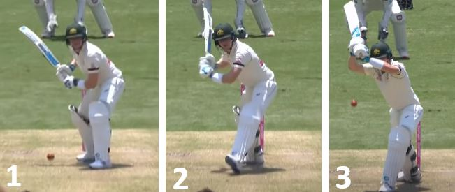 Steve Smith Leaving the ball
